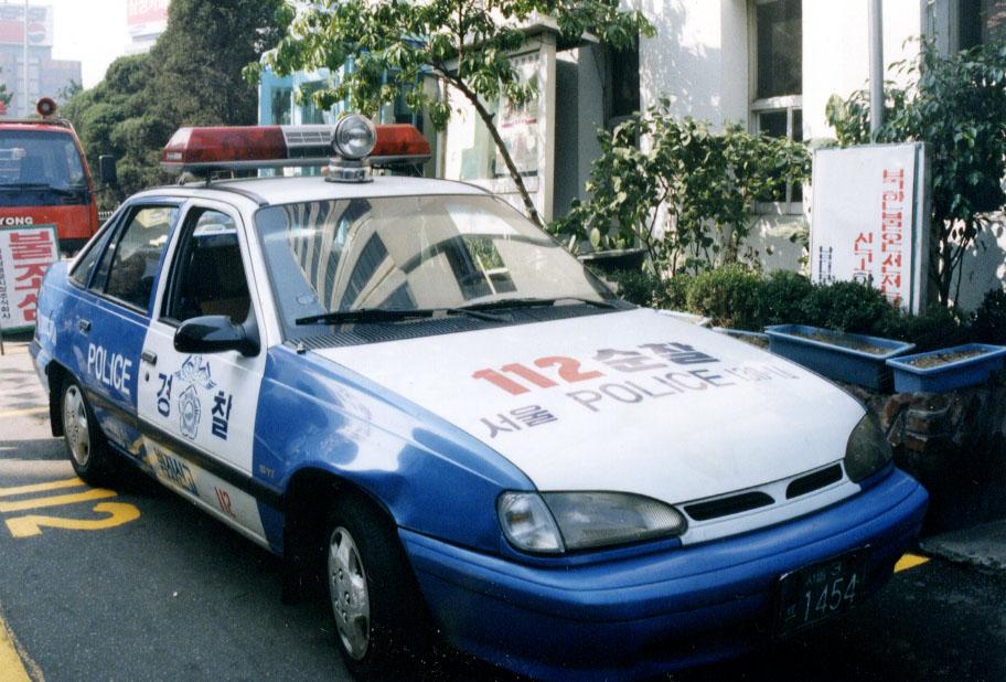 ソウル警察の112巡察車(パトカー) 南大門市場近くにて 112巡察車... 韓国ソウル警察徹底